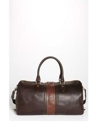 Bolso baúl de cuero en marrón oscuro