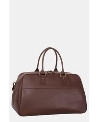 Bolso baúl de cuero en marrón oscuro de Tommy Bahama