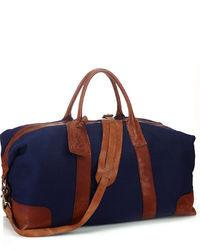Bolso baúl de lona azul marino