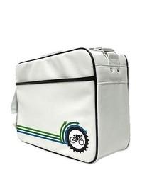 Bolso baúl de lona blanco