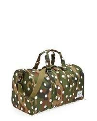 Bolso baúl de lona de camuflaje verde oscuro