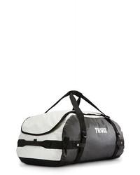 Bolso baúl de lona en blanco y negro