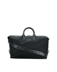 Bolso baúl de lona negro de Alexander McQueen