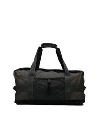 Bolso baúl de lona negro de Stone Island