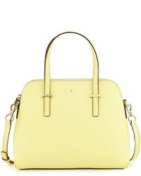 Bolso de cuero amarillo de Kate Spade