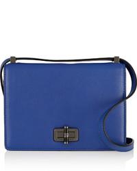 Bolso de cuero azul de Diane von Furstenberg