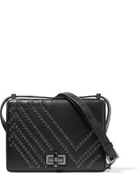 Bolso de cuero con adornos negro de Diane von Furstenberg