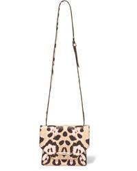 Bolso de cuero de leopardo marrón claro de Givenchy