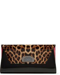 Bolso de cuero de leopardo