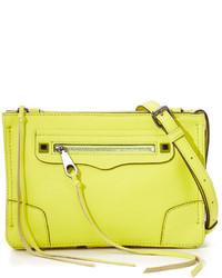 Bolso de cuero en amarillo verdoso de Rebecca Minkoff