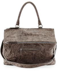 Bolso de cuero gris de Givenchy