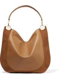 Bolso de cuero marrón claro de Diane von Furstenberg
