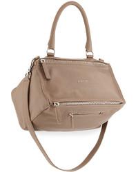 Bolso de cuero marrón claro de Givenchy