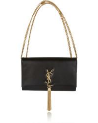 Bolso de cuero negro de Saint Laurent