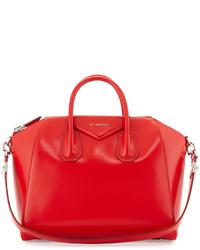 Bolso de cuero rojo de Givenchy