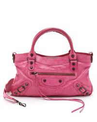 Bolso de cuero rosa de Balenciaga