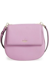 Bolso de cuero violeta claro de Kate Spade