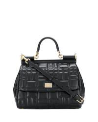 Bolso de hombre de cuero acolchado negro de Dolce & Gabbana