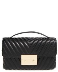Bolso de hombre de cuero acolchado negro de MICHAEL Michael Kors