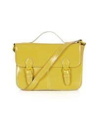 Bolso de hombre de cuero amarillo de Topshop
