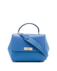 Bolso de hombre de cuero azul de Bally