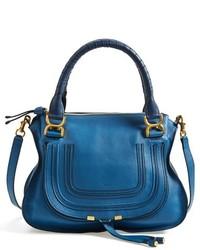 Bolso de hombre de cuero azul de Chloé