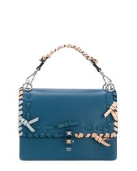 Bolso de hombre de cuero azul de Fendi