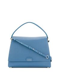 Bolso de Hombre de Cuero Azul de Lanvin