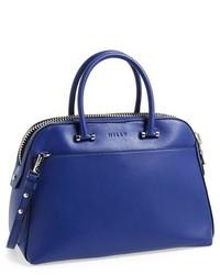 Bolso de hombre de cuero azul de Milly