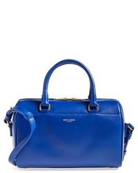 Bolso de hombre de cuero azul de Saint Laurent
