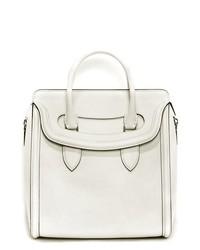 Bolso de hombre de cuero blanco de Alexander McQueen