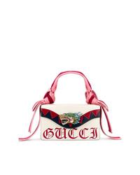 Bolso de hombre de cuero blanco de Gucci