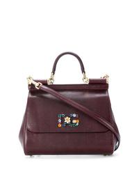 Bolso de hombre de cuero burdeos de Dolce & Gabbana