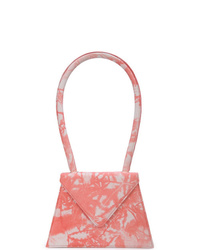 Bolso de hombre de cuero efecto teñido anudado rosado de Amélie Pichard