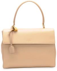 Bolso de hombre de cuero en beige de Saint Laurent