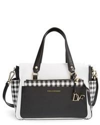 Bolso de hombre de cuero en blanco y negro de Diane von Furstenberg