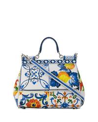 Bolso de hombre de cuero en multicolor de Dolce & Gabbana