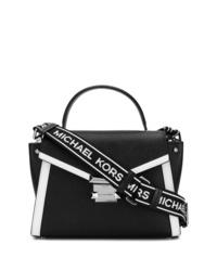 Bolso de hombre de cuero en negro y blanco de MICHAEL Michael Kors