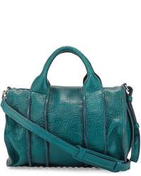 Bolso de hombre de cuero en verde azulado de Alexander Wang