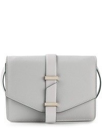 Bolso de hombre de cuero gris de Victoria Beckham