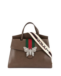 Bolso de hombre de cuero marrón de Gucci