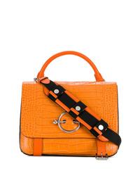 Bolso de hombre de cuero naranja de JW Anderson