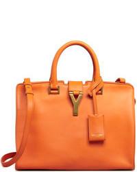 Bolso de hombre de cuero naranja de Saint Laurent