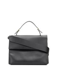 Bolso de hombre de cuero negro de Calvin Klein