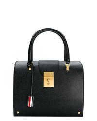 Bolso de hombre de cuero negro de Thom Browne