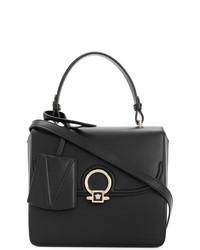 Bolso de hombre de cuero negro de Versace