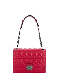 Bolso de hombre de cuero rojo de Karl Lagerfeld