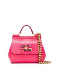 Bolso de hombre de cuero rosa de Dolce & Gabbana