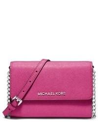 Bolso de hombre de cuero rosa de MICHAEL Michael Kors