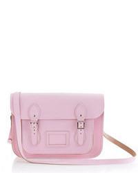 Bolso de hombre de cuero rosado de The Cambridge Satchel Company